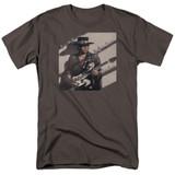 Stevie Ray Vaughan Texas Flood S/S Adult 18/1 T-Shirt Charcoal