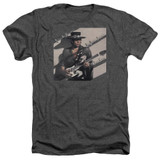 Stevie Ray Vaughan Texas Flood Adult Heather Charcoal T-Shirt