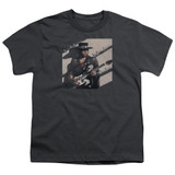 Stevie Ray Vaughan Texas Flood S/S Youth 18/1 T-Shirt Charcoal