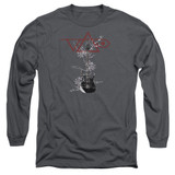 Steve Vai Axe Long Sleeve Adult 18/1 T-Shirt Charcoal