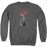 Steve Vai Axe Adult Crewneck Sweatshirt Charcoal