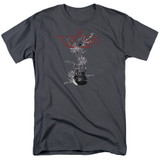 Steve Vai Axe S/S Adult 18/1 T-Shirt Charcoal