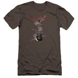 Steve Vai Axe Premium Canvas Adult Slim Fit 30/1 T-Shirt Charcoal