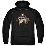 Steve Vai Guitar Adult Pullover Hoodie Sweatshirt Black