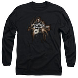 Steve Vai Guitar Long Sleeve Adult 18/1 T-Shirt Black