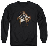 Steve Vai Guitar Adult Crewneck Sweatshirt Black