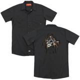 Steve Vai Guitar (Back Print) Adult Work Shirt Black
