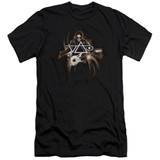 Steve Vai Guitar Premium Canvas Adult Slim Fit 30/1 T-Shirt Black