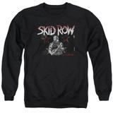 Skid Row Unite World Rebellion Adult Crewneck Sweatshirt Black