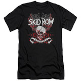 Skid Row Winged Skull Premuim Canvas Adult Slim Fit 30/1 T-Shirt Black