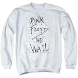 Roger Waters Pink Floyd The Wall 2 Adult Crewneck Sweatshirt White