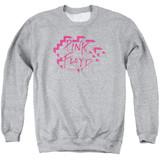 Roger Waters Pink Floyd Wall Logo Adult Crewneck Sweatshirt Athletic Heather