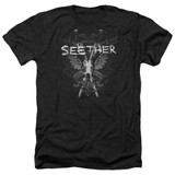 Seether Suffer Adult Heather Black T-Shirt