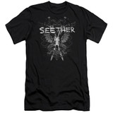 Seether Suffer Premuim Canvas Adult Slim Fit 30/1 T-Shirt Black