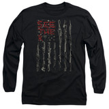 Seether Bone Flag Long Sleeve Adult 18/1 T-Shirt Black