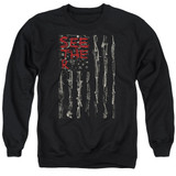 Seether Bone Flag Adult Crewneck Sweatshirt Black
