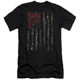 Seether Bone Flag Premuim Canvas Adult Slim Fit 30/1 T-Shirt Black