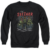 Seether Mind Control Adult Crewneck Sweatshirt Black
