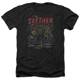 Seether Mind Control Adult Heather Black T-Shirt