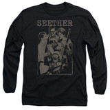 Seether Happy Family Long Sleeve Adult 18/1 T-Shirt Black