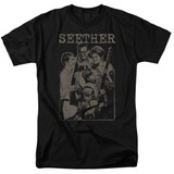 Seether Happy Family S/S Adult 18/1 T-Shirt Black