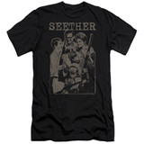 Seether Happy Family S/S Adult 30/1 T-Shirt Black