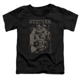 Seether Happy Family S/S Toddler T-Shirt Black