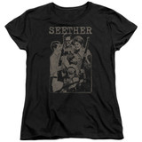 Seether Happy Family S/S Women's T-Shirt Black