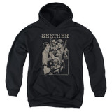 Seether Happy Family Youth Pullover Hoodie Sweatshirt Black