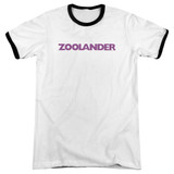 Zoolander Logo Adult Ringer T-Shirt White/Black