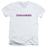 Zoolander Logo S/S Adult V-Neck T-Shirt White