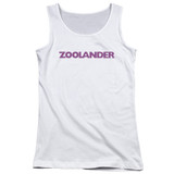 Zoolander Logo Junior Women's Tank Top White