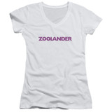 Zoolander Logo Junior Women's V-Neck T-Shirt White