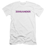 Zoolander Logo Premium Canvas Adult Slim Fit 30/1 T-Shirt White