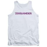 Zoolander Logo Adult Tank Top White