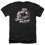 Zoolander Obey My Dog Adult Heather Black T-Shirt