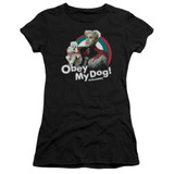 Zoolander Obey My Dog S/S Junior Women's T-Shirt Sheer Black