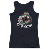 Zoolander Obey My Dog Junior Women's Tank Top Black