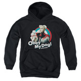 Zoolander Obey My Dog Youth Pullover Hoodie Sweatshirt Black