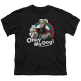 Zoolander Obey My Dog S/S Youth 18/1 T-Shirt Black