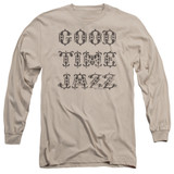 Good Time Jazz Retro Good Times Adult Long Sleeve T-Shirt Sand