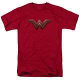 Wonder Woman Movie Wonder Woman Logo S/S Adult 18/1 T-Shirt Cardinal