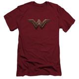 Wonder Woman Movie Wonder Woman Logo S/S Adult 30/1 T-Shirt Cardinal