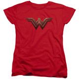 Wonder Woman Movie Wonder Woman Logo S/S Women's T-Shirt Red