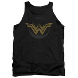 Wonder Woman Movie Distressed Logo Adult Tank Top Black