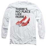 Wizard of Oz No Place Like Home Long Sleeve Adult 18/1 T-Shirt White