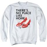 Wizard of Oz No Place Like Home Adult Crewneck Sweatshirt White