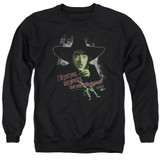 Wizard of Oz And Your Little Dog Too Adult Crewneck Sweatshirt Black