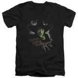 Wizard of Oz And Your Little Dog Too S/S Adult V Neck 30/1 T-Shirt Black