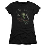 Wizard of Oz And Your Little Dog Too S/S Junior Women's T-Shirt Sheer Black